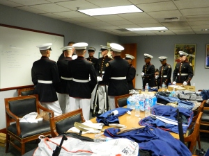 7.Marine JR. ROTC GETTING READY
