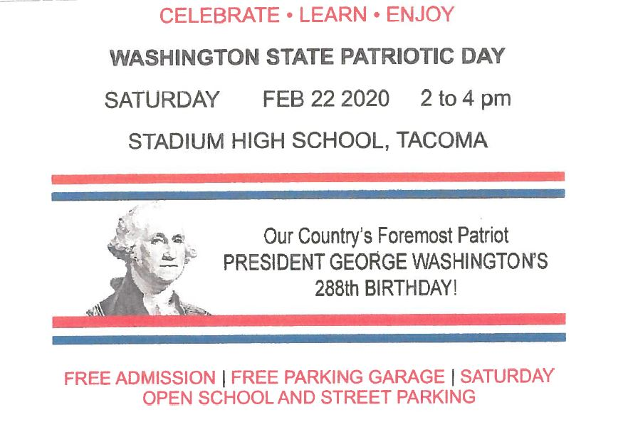 2020 WA State Patriots Day Flyer Image